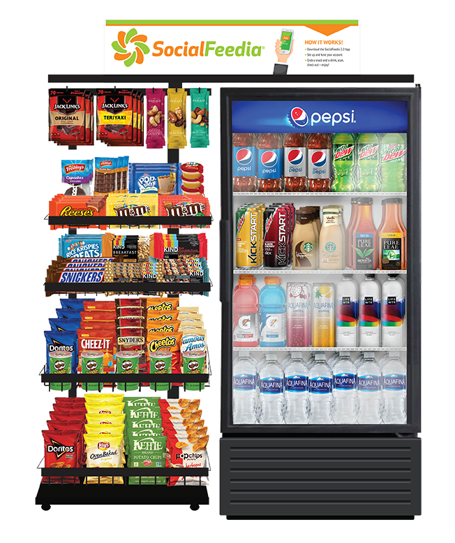 Use our app to pay for office snacks!